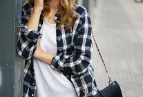 【30代・40代女性】チェックシャツ×スキニージーンズのコーデ