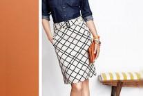 濃紺デニムシャツ×タイトスカートのコンサバコーデ